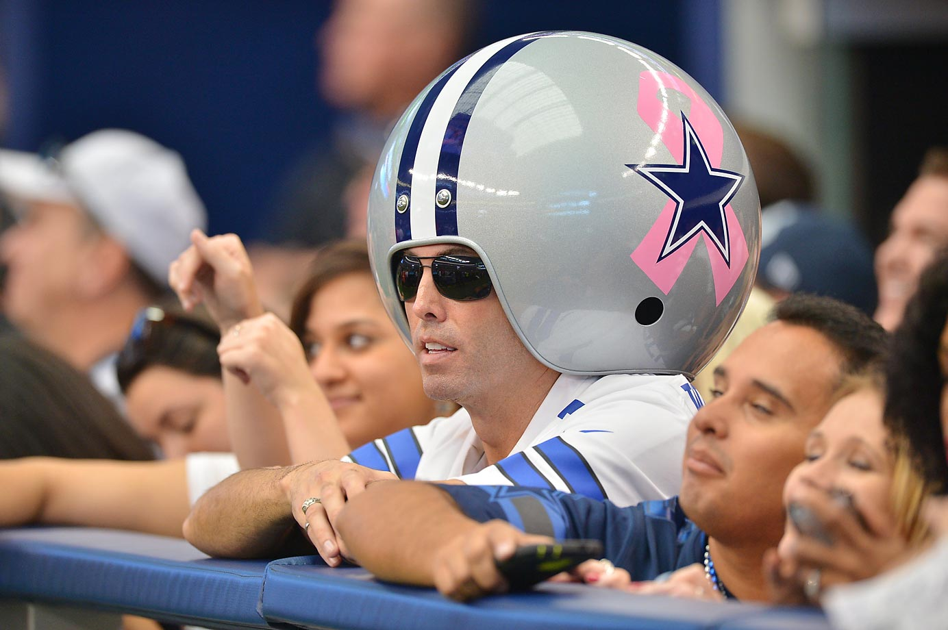 Dallas Cowboys fans during their game against the Houston Texans.