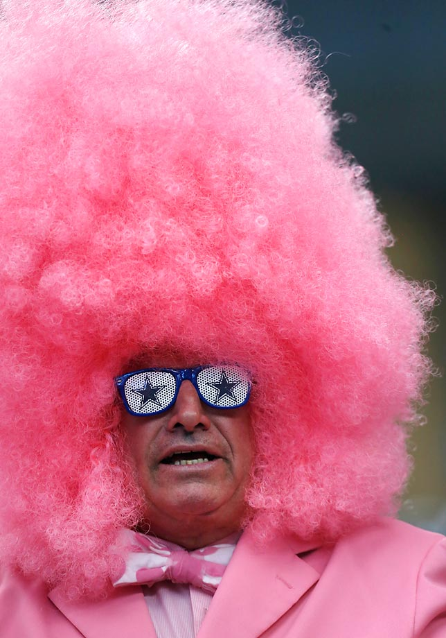 A Dallas Cowboys fan and Breast Cancer Awareness supporter.