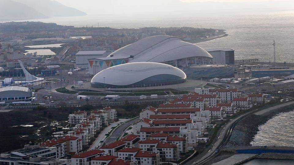 The large footprint of Sochi's Olympic park has created some problems for reporters.