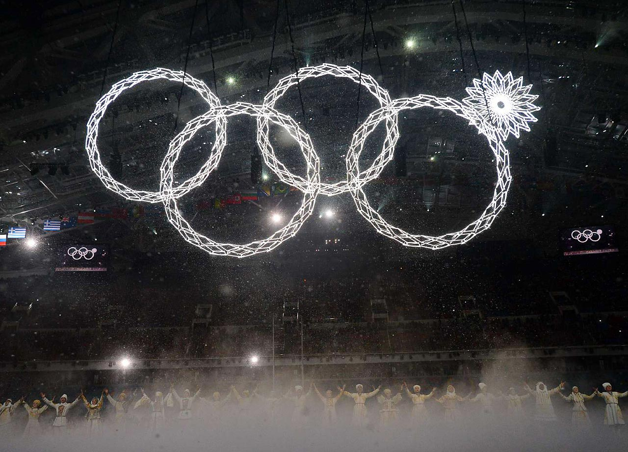 The Opening Ceremony of the 2014 Sochi Games was aesthetically spectacular, but it did have one rather glaring error: One of the giant Olympic rings designed to expand failed to do so. The technical failure was widely mocked outside of Russia as one of the many so-called #SochiProblems, but otherwise the Opening Ceremony constituted a visually impressive tribute to the Russian people and their history.