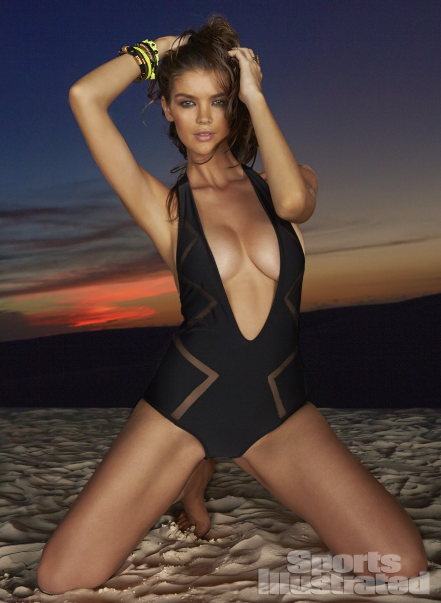 Natasha Barnard was photographed by Raphael Mazzucco in Brazil. Swimsuit by Ola Vida.