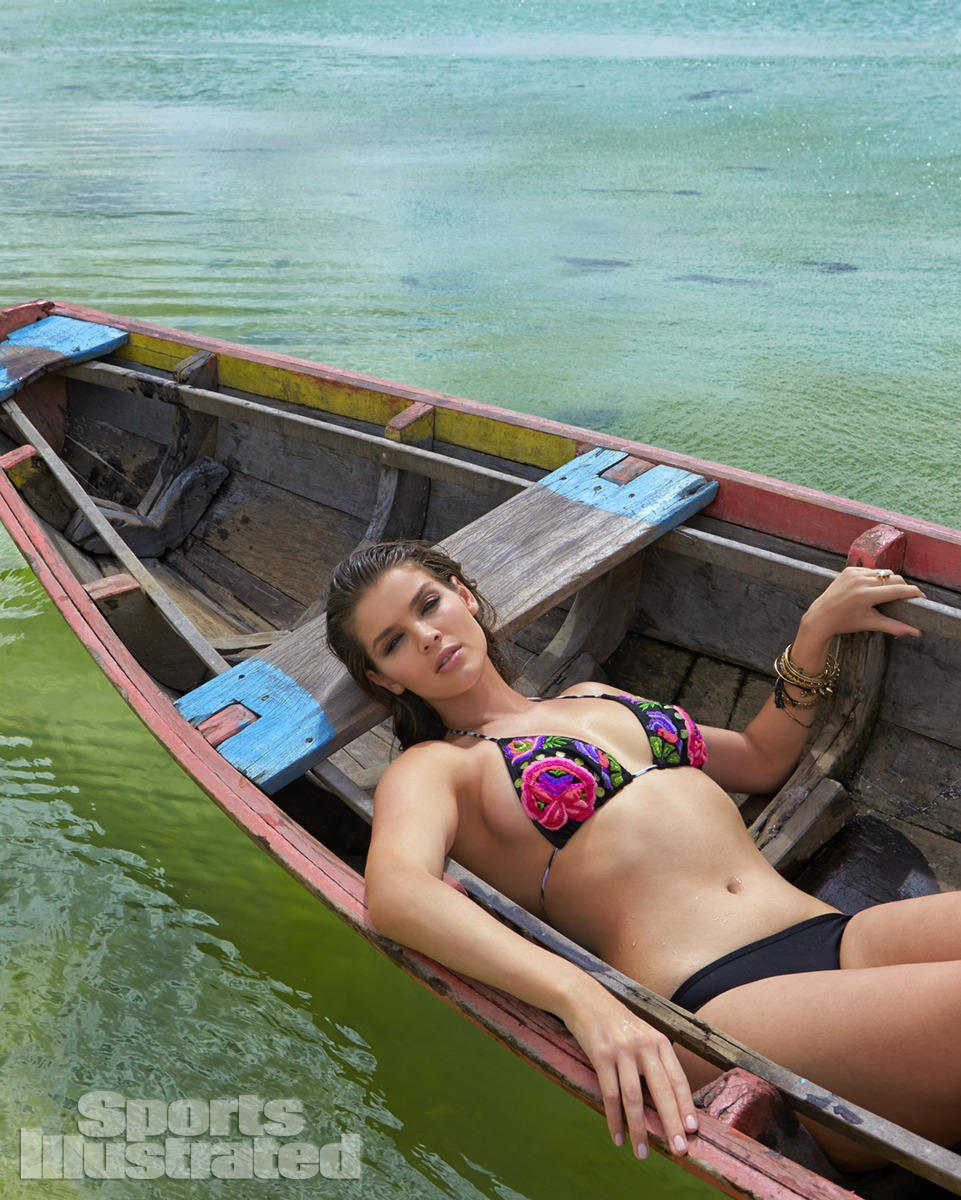 Natasha Barnard was photographed by Raphael Mazzucco in Brazil. Swimsuit by Aguaclara Swimwear.