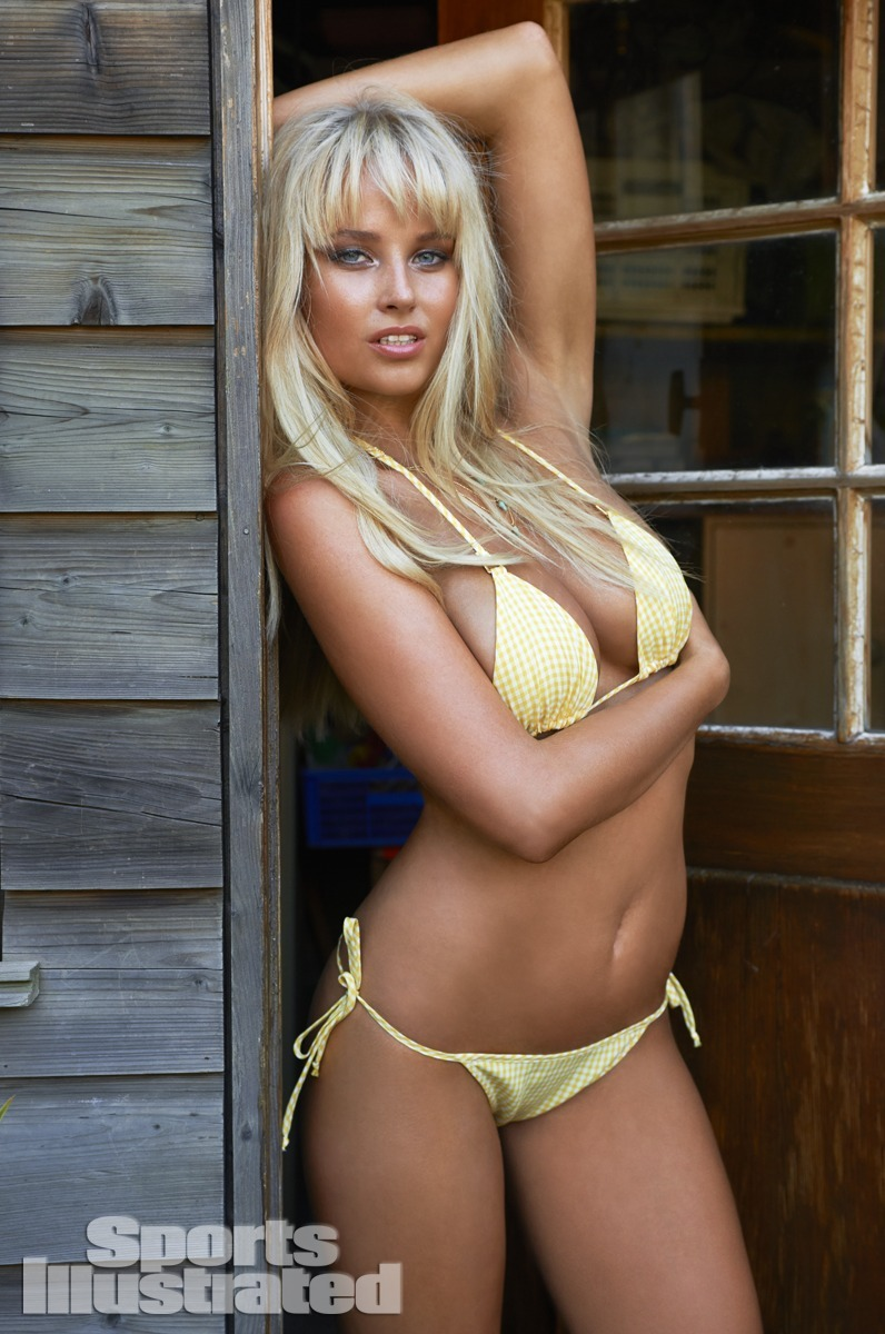 Genevieve Morton was photographed by Yu Tsai in Switzerland. Swimsuit by Trunkettes.