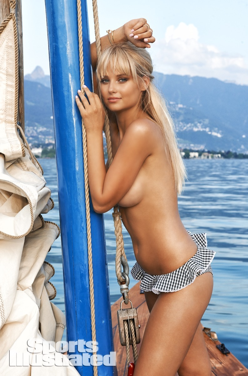 Genevieve Morton was photographed by Yu Tsai in Switzerland. Swimsuit by Letarte by Lisa Cabrinha.