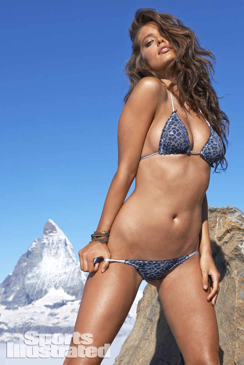 Emily DiDonato was photographed by Yu Tsai in Switzerland. Swimsuit by Indah.