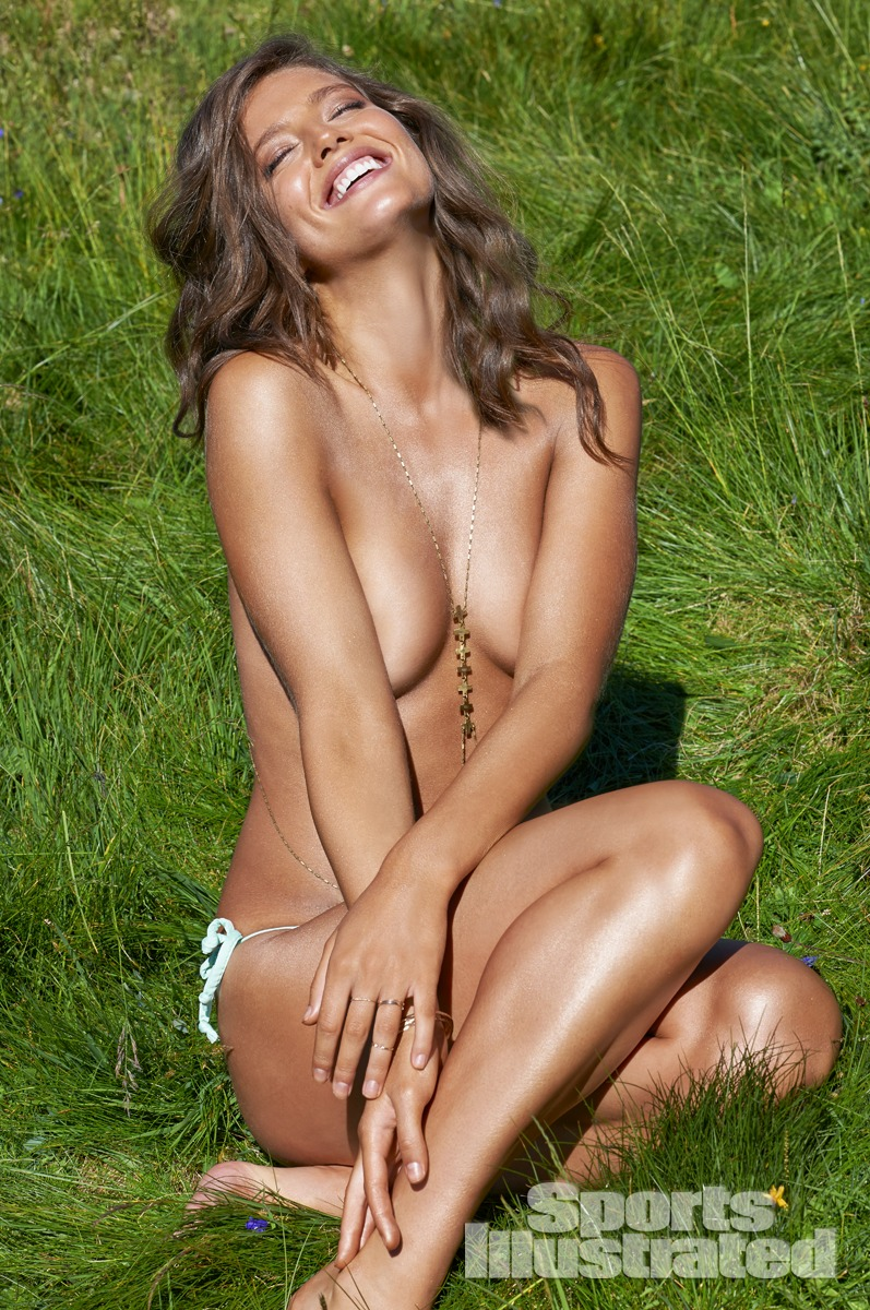 Emily DiDonato was photographed by Yu Tsai in Switzerland. Swimsuit by Zinke.