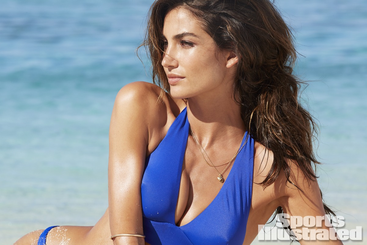 Lily Aldridge was photographed by James Macari in the Cook Islands. Swimsuit by Aquarella.