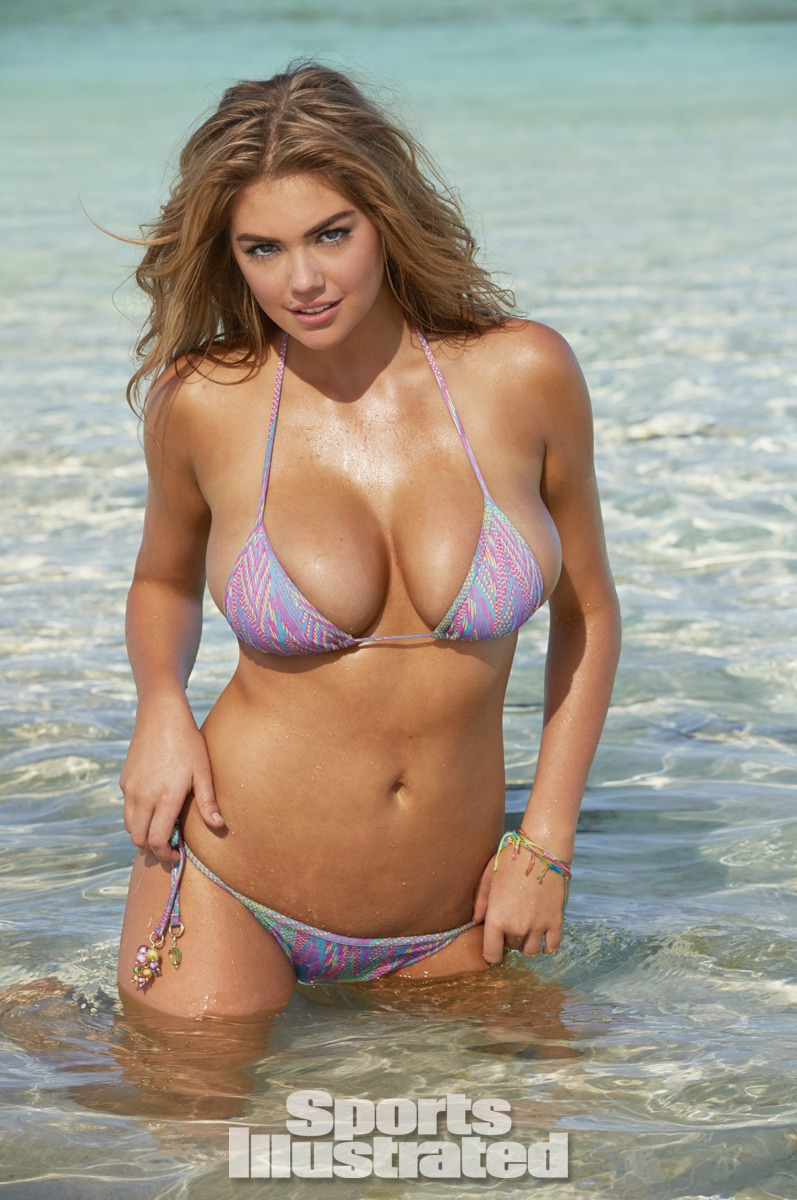 Kate Upton was photographed by James Macari in the Cook Islands. Swimsuit by PISTOL PANTIES BY DEBORAH FLEMING.