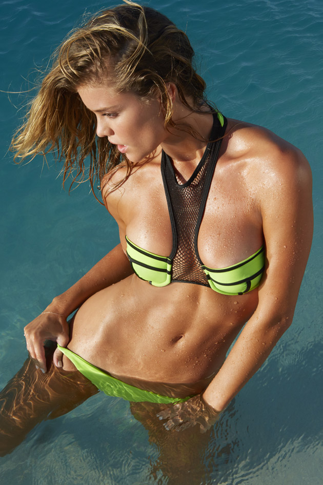 Nina Agdal in the Cook Islands, New Zealand.