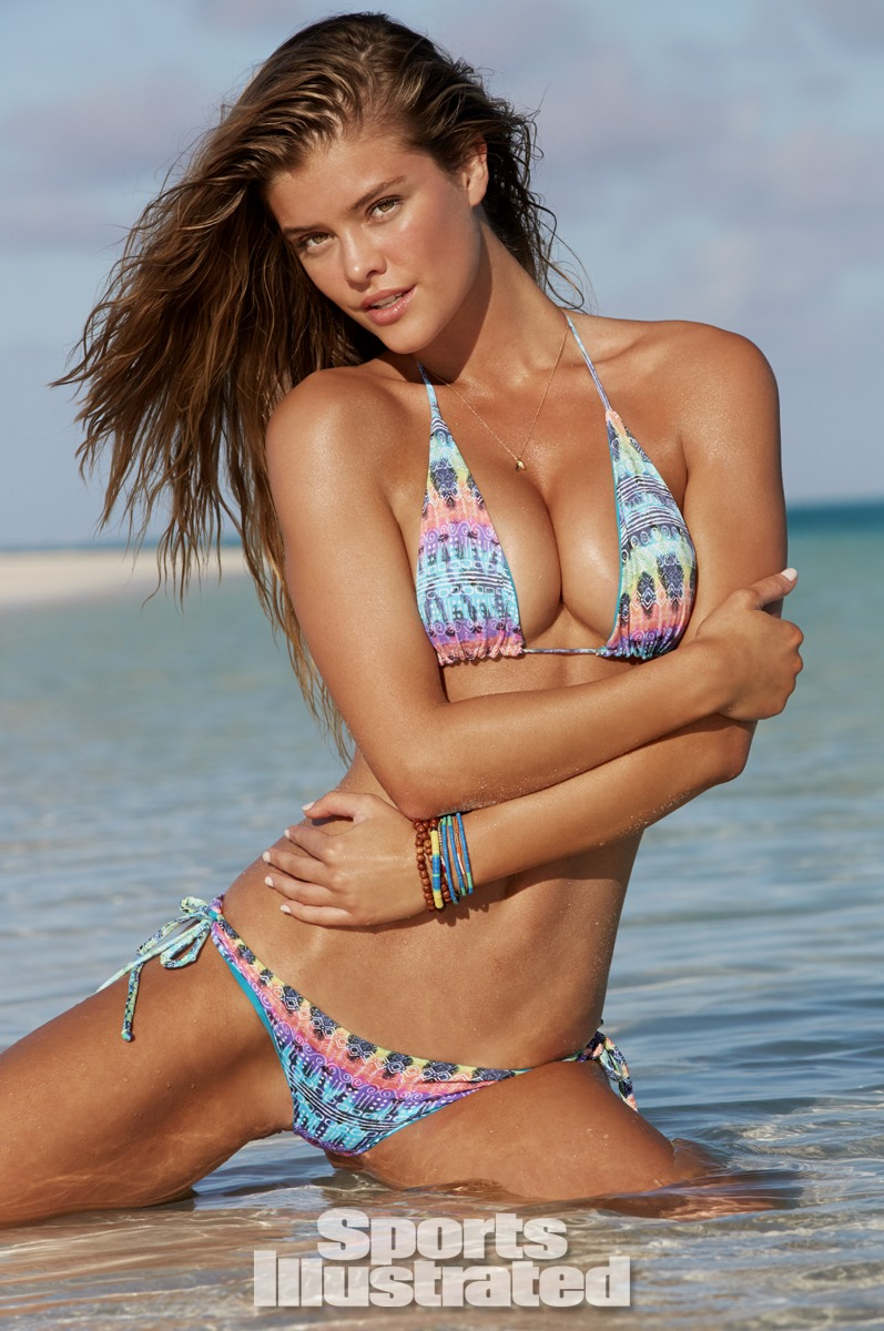 Nina Agdal was photographed by James Macari in the Cook Islands. Swimsuit by San Lorenzo.