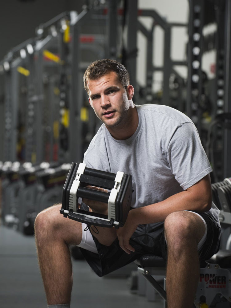 NFL prospect Blake Bortles works out with professional trainers at EXOS Athletes Performance in Carlsbad, CA.