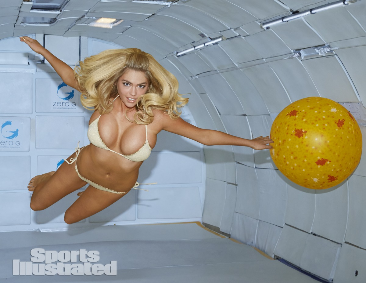 Kate Upton was photographed by James Macari in Cape Canaveral. Swimsuit by Target Limited Edition Swimsuit Collection.