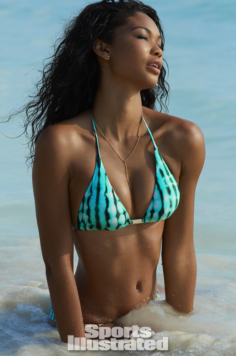 Chanel Iman was photographed by Derek Kettela in Madagascar. Swimsuit by ViX Paula Hermanny.