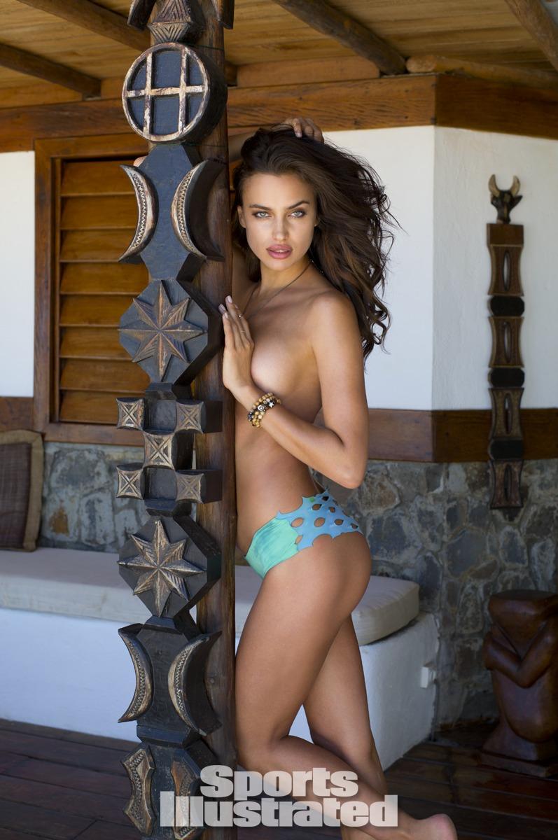 Irina Shayk was photographed by Derek Kettela in Madagascar. Swimsuit by Martha Rey for The La Boheme.