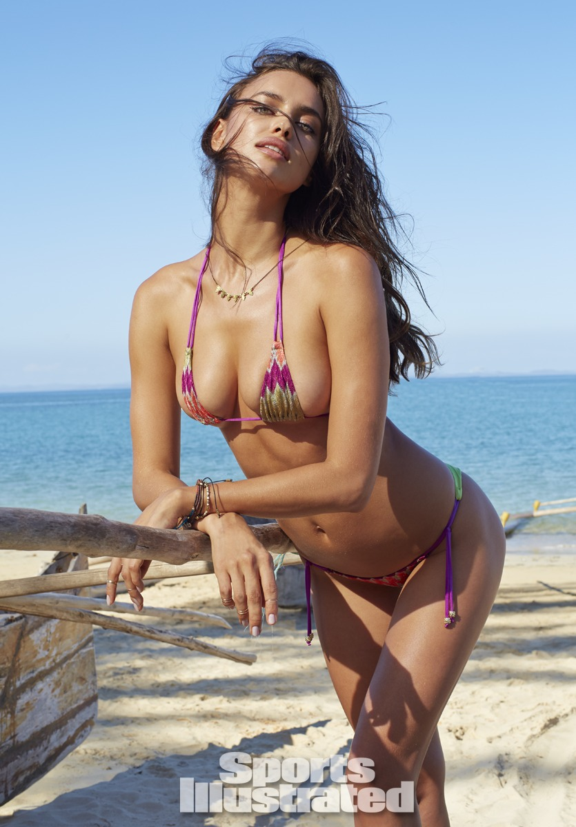 Irina Shayk was photographed by Derek Kettela in Madagascar. Swimsuit by Dolcessa Swimwear.