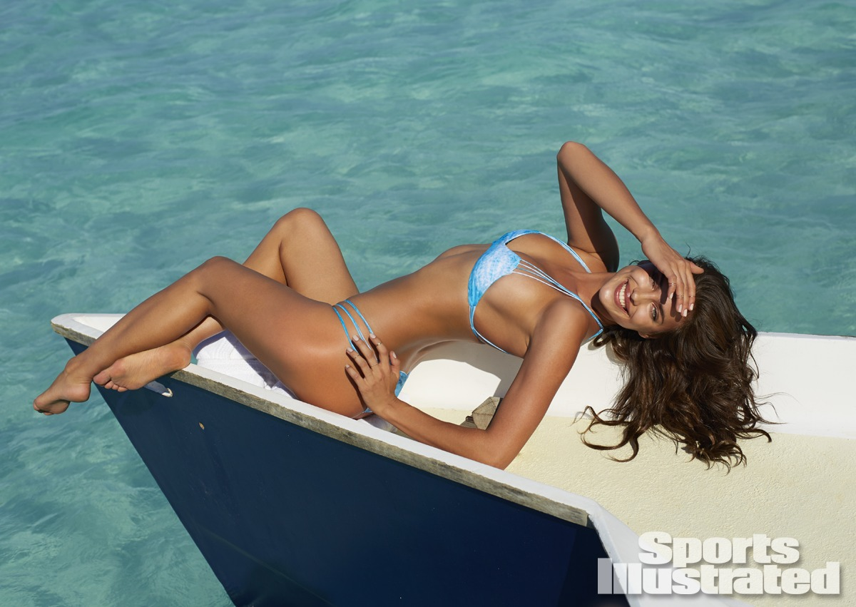Irina Shayk was photographed by Derek Kettela in Madagascar. Swimsuit by MIKOH.