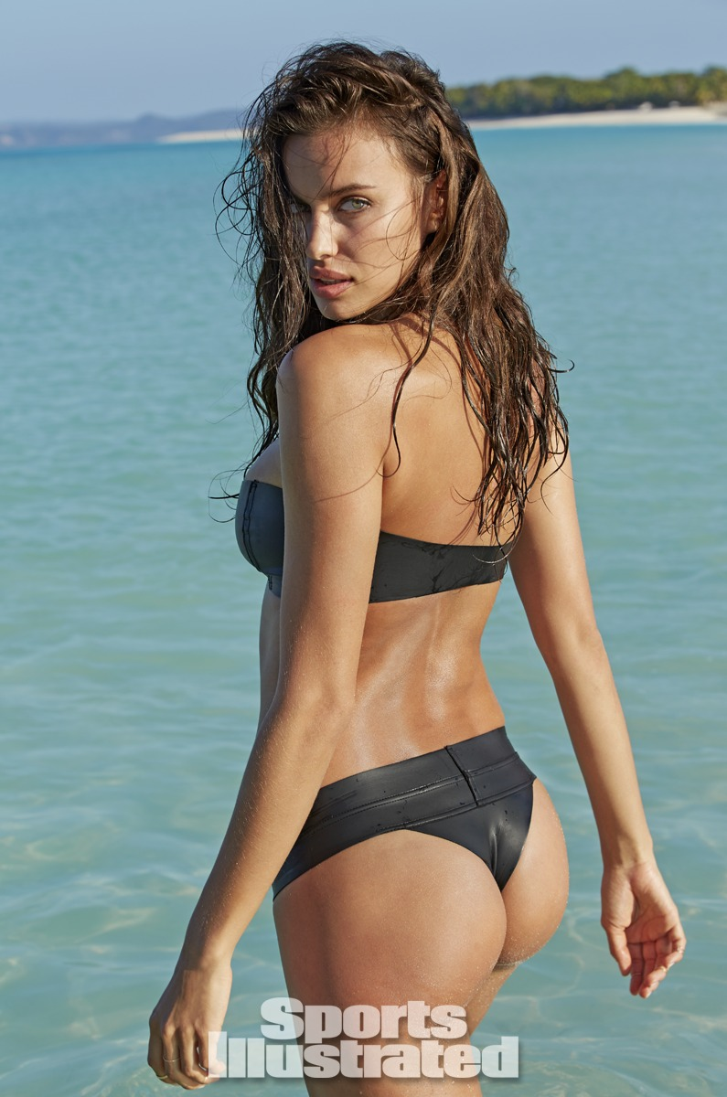 Irina Shayk was photographed by Derek Kettela in Madagascar. Swimsuit by MIKOH.