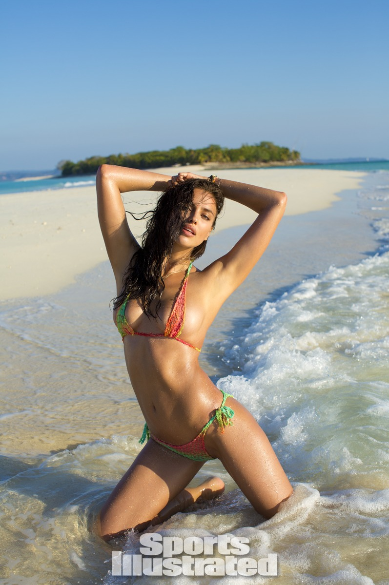 Irina Shayk was photographed by Derek Kettela in Madagascar. Swimsuit by Letarte by Lisa Cabrinha.