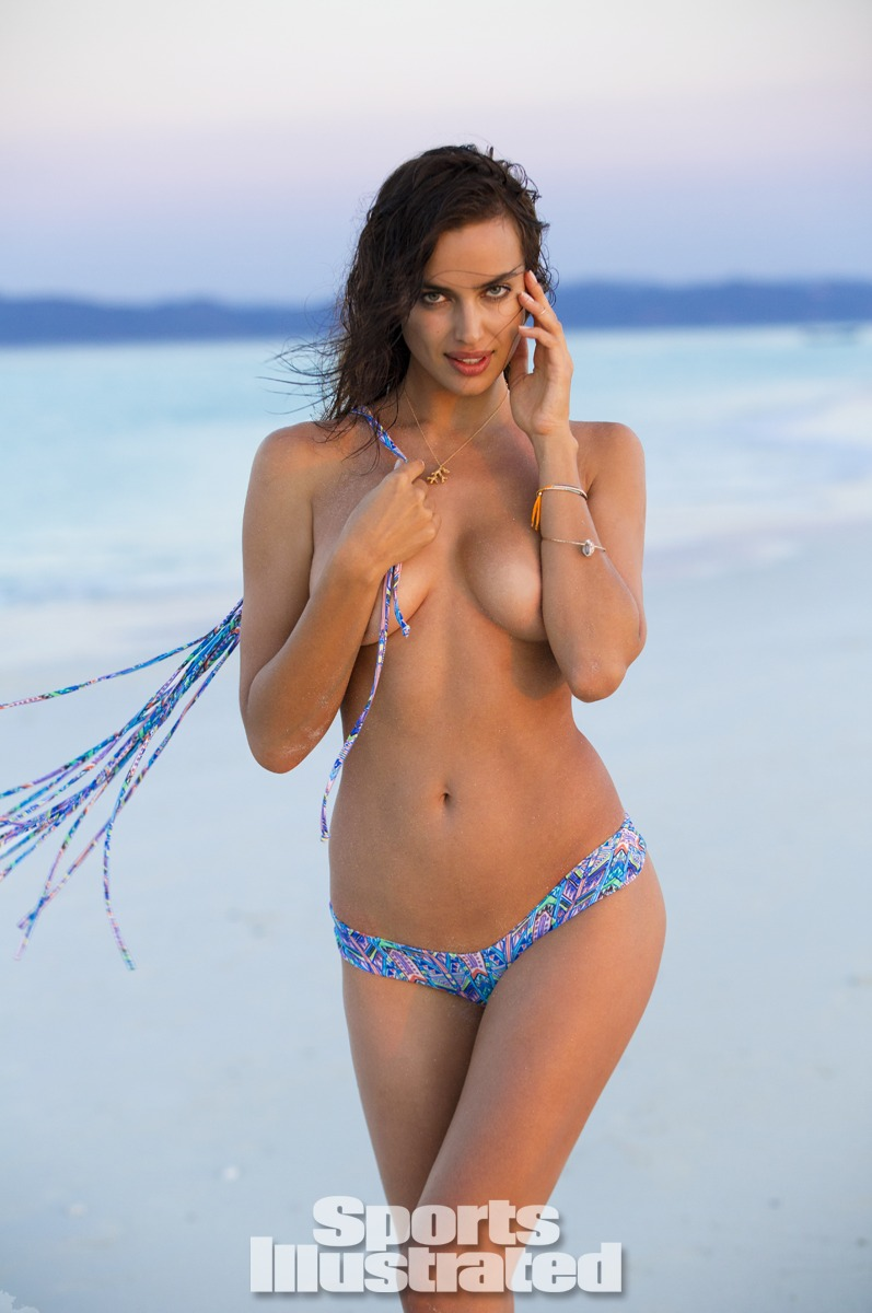 Irina Shayk was photographed by Derek Kettela in Madagascar. Swimsuit by STONE FOX SWIM.