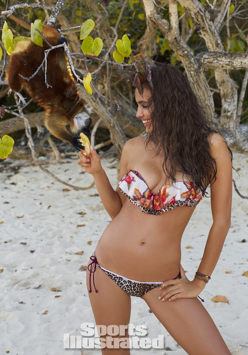 Irina Shayk was photographed by Derek Kettela in Madagascar. Swimsuit by Zimmermann.