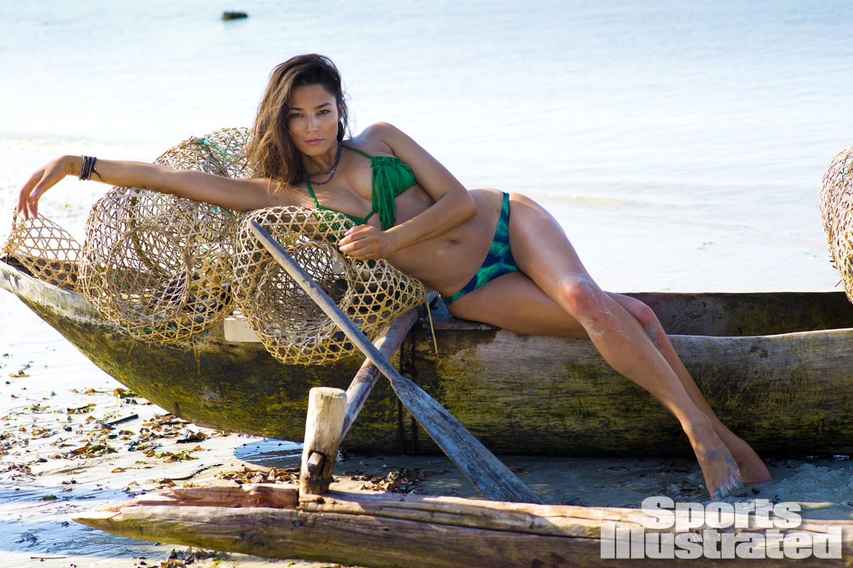 Jessica Gomes was photographed by Derek Kettela in Madagascar. Swimsuit by STONE FOX SWIM.
