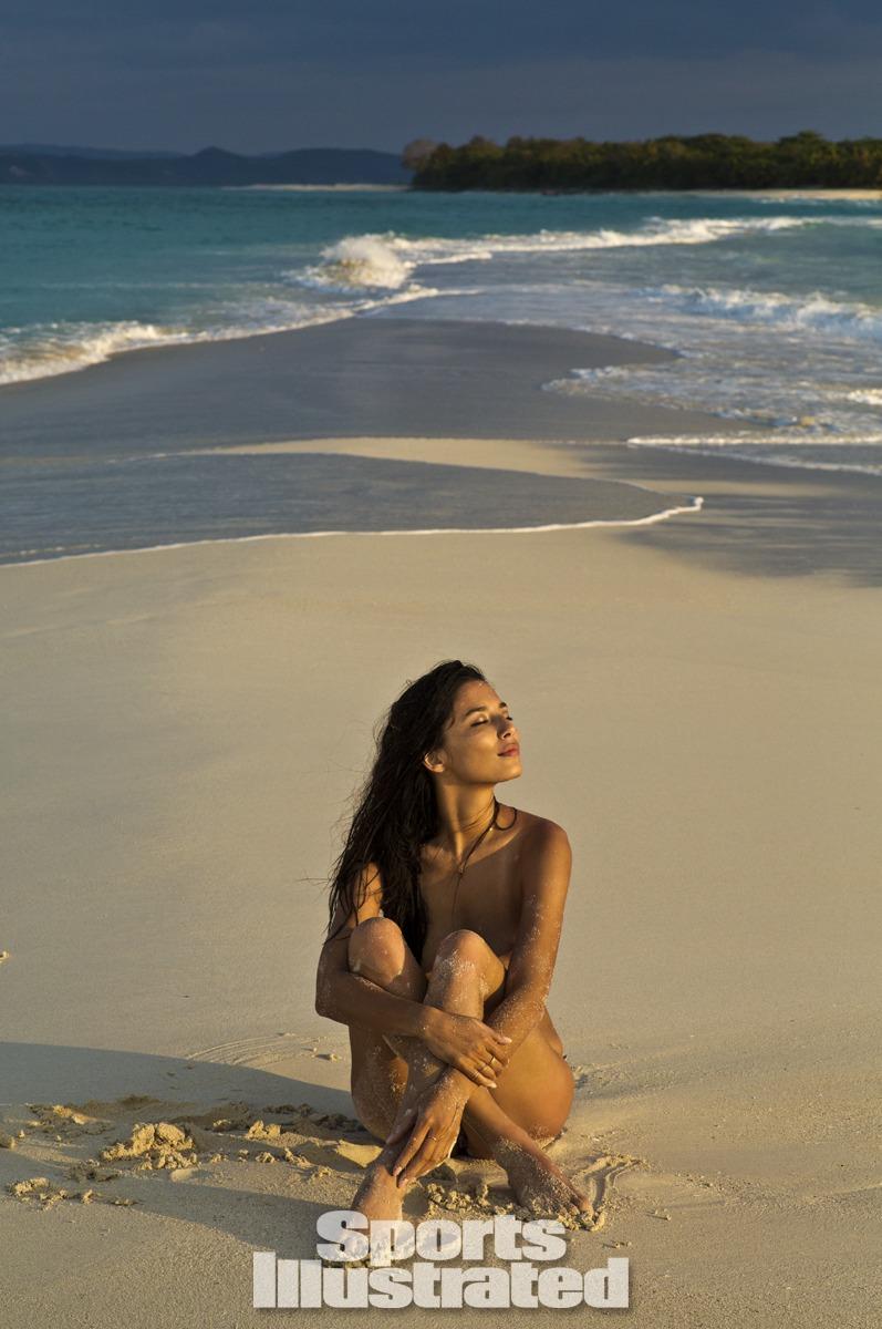 Jessica Gomes was photographed by Derek Kettela in Madagascar. Swimsuit by Tori Praver Swimwear.