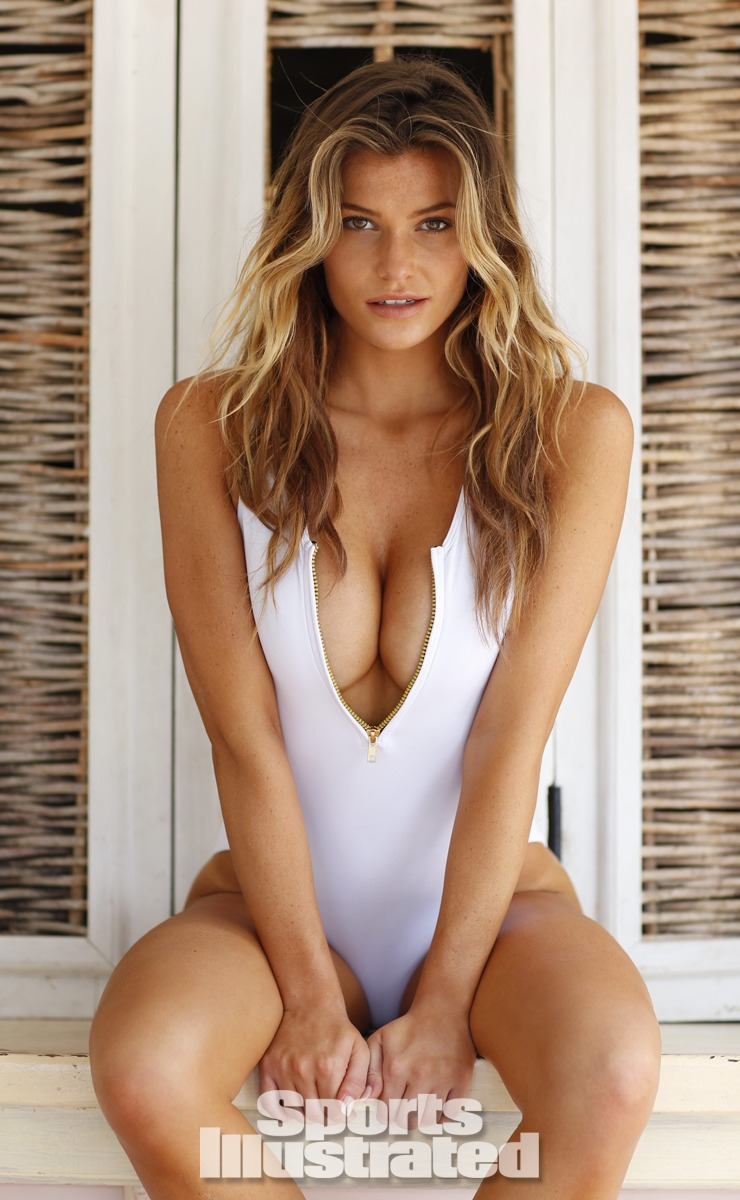 Samantha Hoopes was photographed by Walter Iooss Jr. in St. Lucia. Swimsuit by Tori Praver Swimwear.