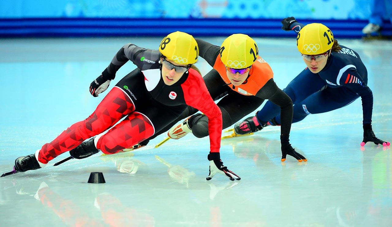 Seung-Hi Park of Korea, Marianne St. Gegais of Canada and Yara Van Kerkhof of the Netherlands.