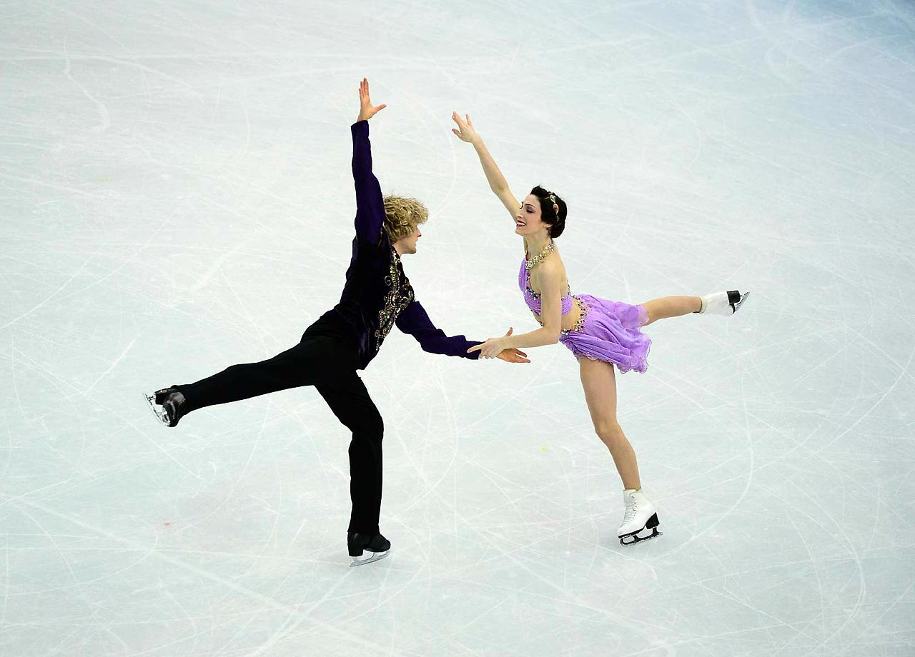Meryl Davis and Charlie White won the gold medal in ice dance, the first Olympic title in the event for the United States. (AP)