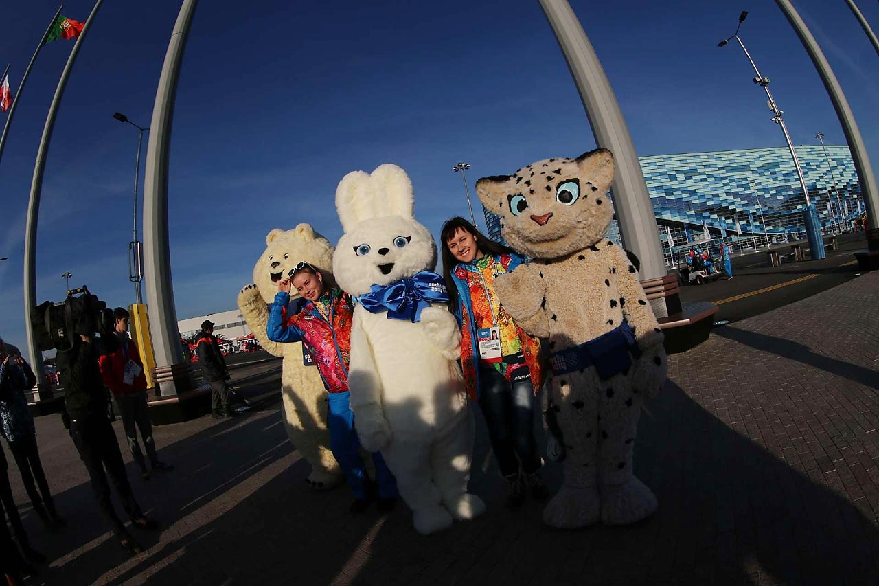 The mascots for the Sochi Games are polar bears, hares and leopards.