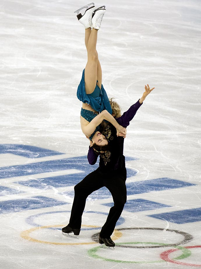 Meryl Davis and Charlie White during the Team Ice Dance Free Dance.
