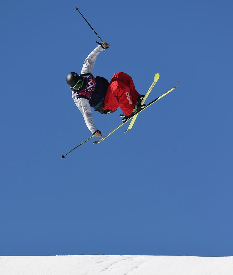 Joss Christensen of the U.S. wins the gold in the  Slopestyle.
