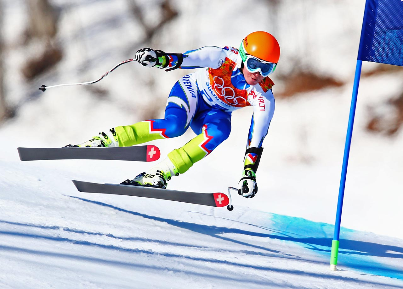 Marusa Ferk of Slovenia during the Super-G.