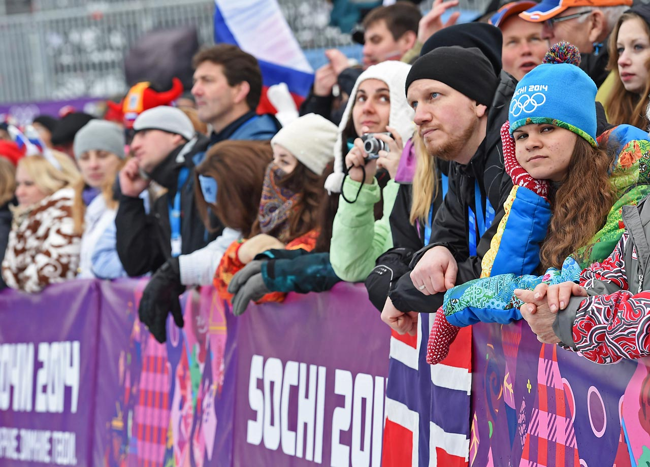 Fans waited in vain for the snowboard cross to begin.