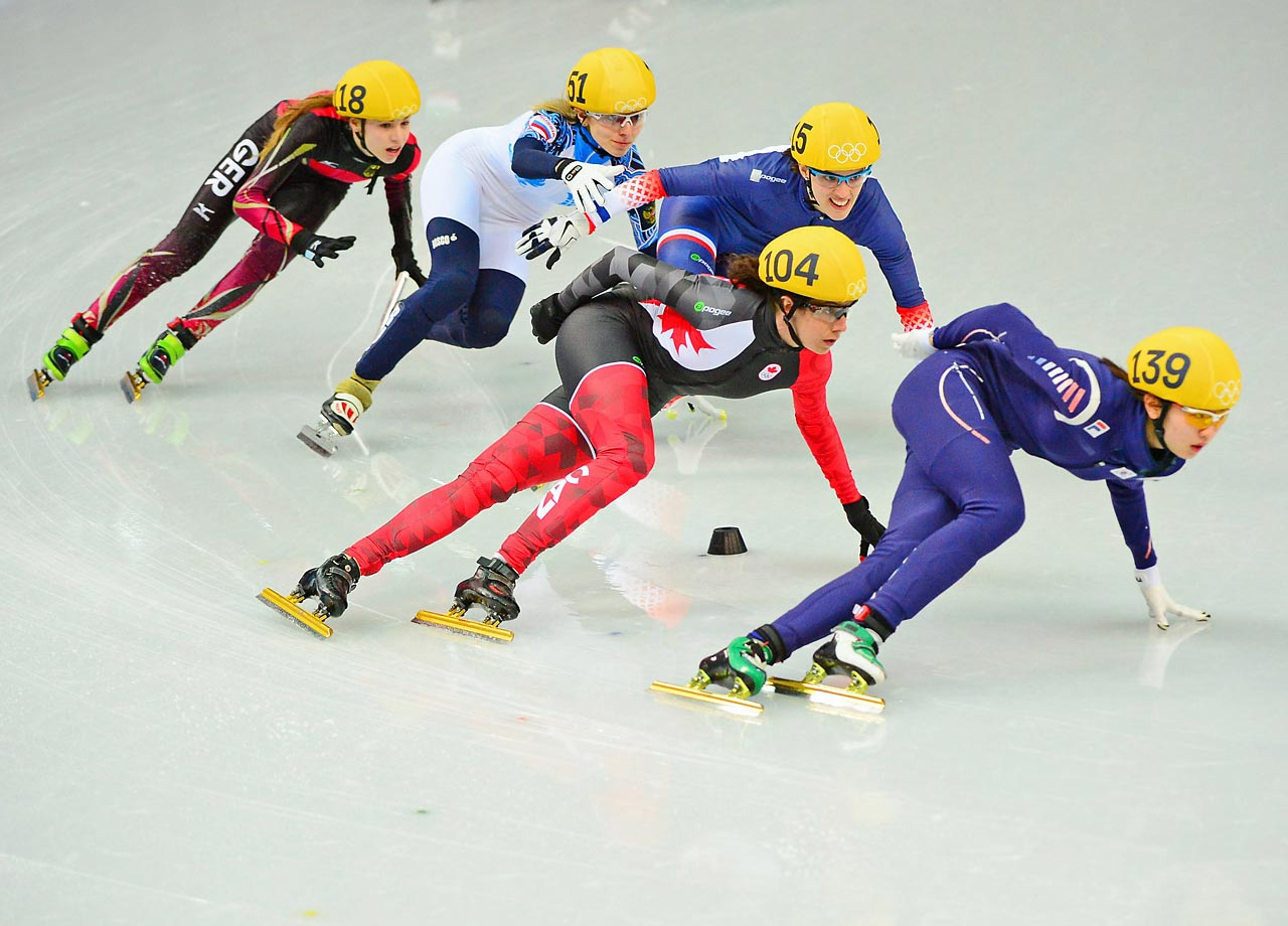 Action from the women's Short Track 1500 meter.