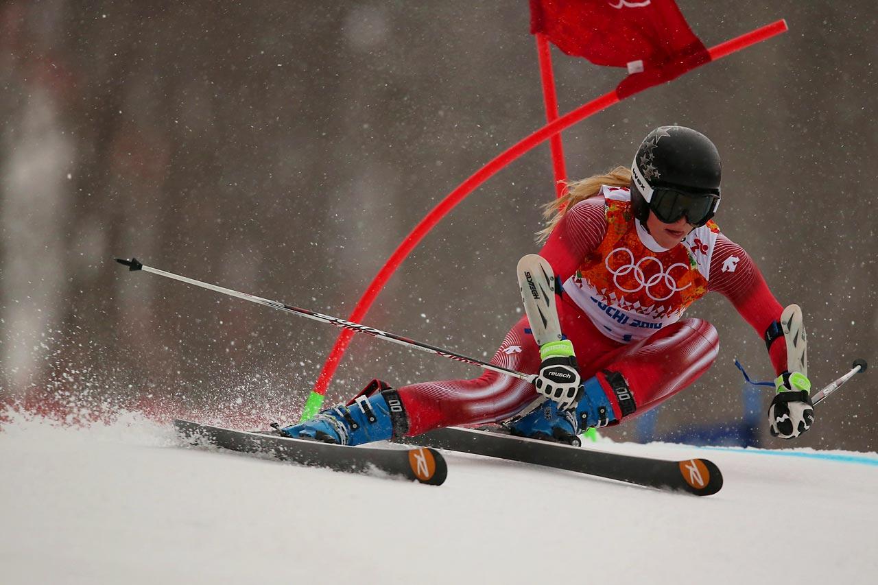 Lara Gut of Switzerland in the Giant Slalom.