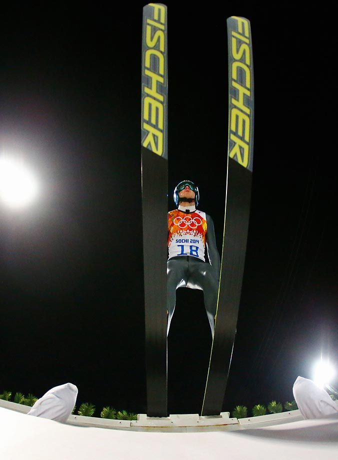 Mens Large Hill Individual Ski Jumping. 1st Round.