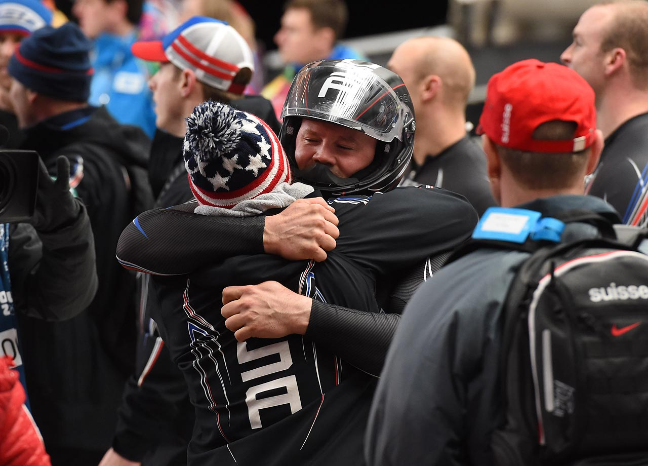 Holcomb and Langton gave the U.S. its fourth sliding medal so far at the Sochi Games, a total that exceeds the three the Americans combined to win in Turin in 2006 and Vancouver in 2010. (AP)