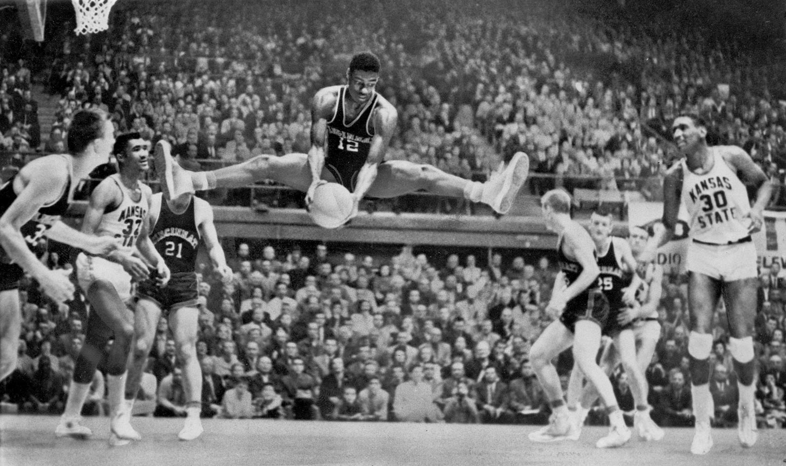 A scoring machine, Oscar Robertson led the nation in points in each of his three years at the varsity level and his 33.8 career points per game is third highest in history. Robertson led Cincinnati to back-to-back Final Fours in his junior and senior years, and the Bearcats lost just six games during that span. Individually, Robinson left college as the NCAA's all-time leading scorer, a record he held until Pete Maravich topped him. Robertson also won the USBWA's NCAA Division I Player of the Year Award in 1959 and 1960, the first two years it was given out. The award has since been renamed the Oscar Robertson Trophy.