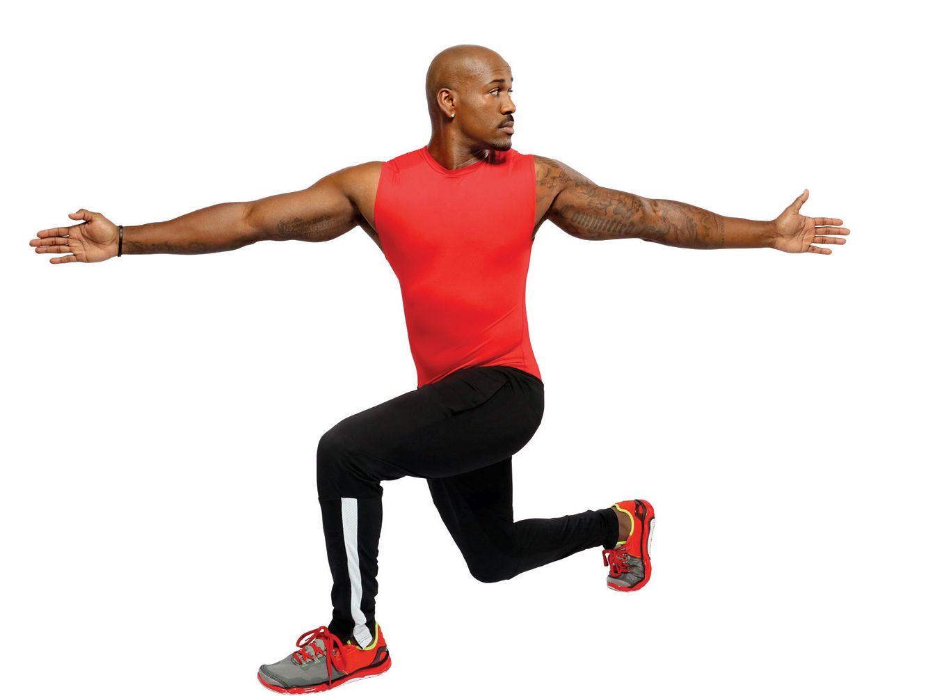 9. Lunge Twists (30 seconds)