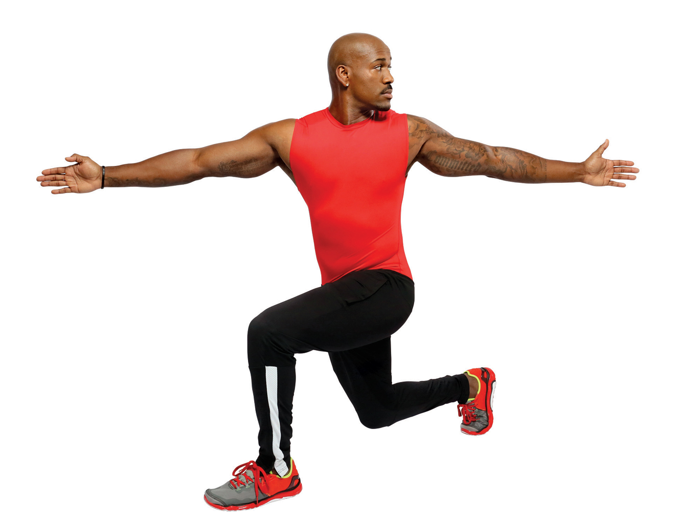 5. Lunge Twists (30 seconds)