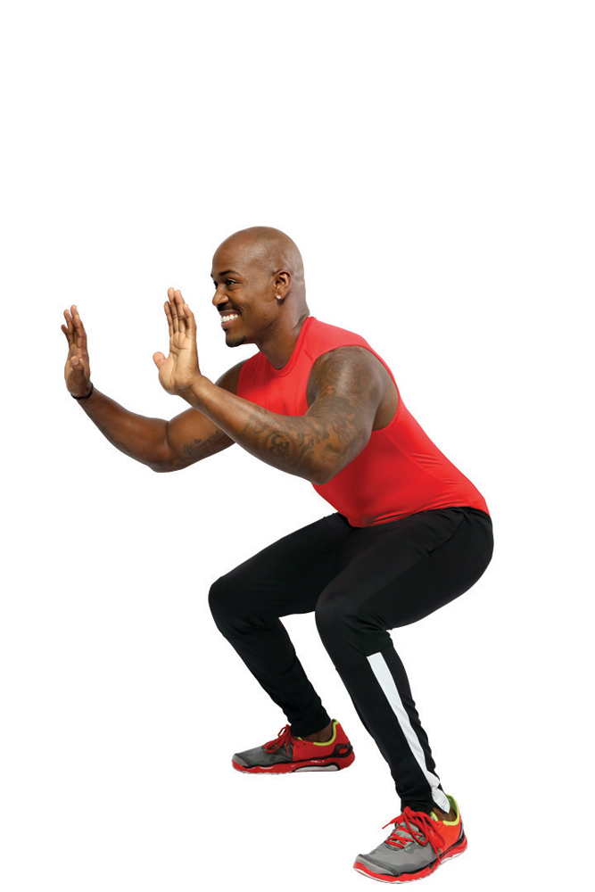 7b. Traveling Squats with Pivot (30 seconds)