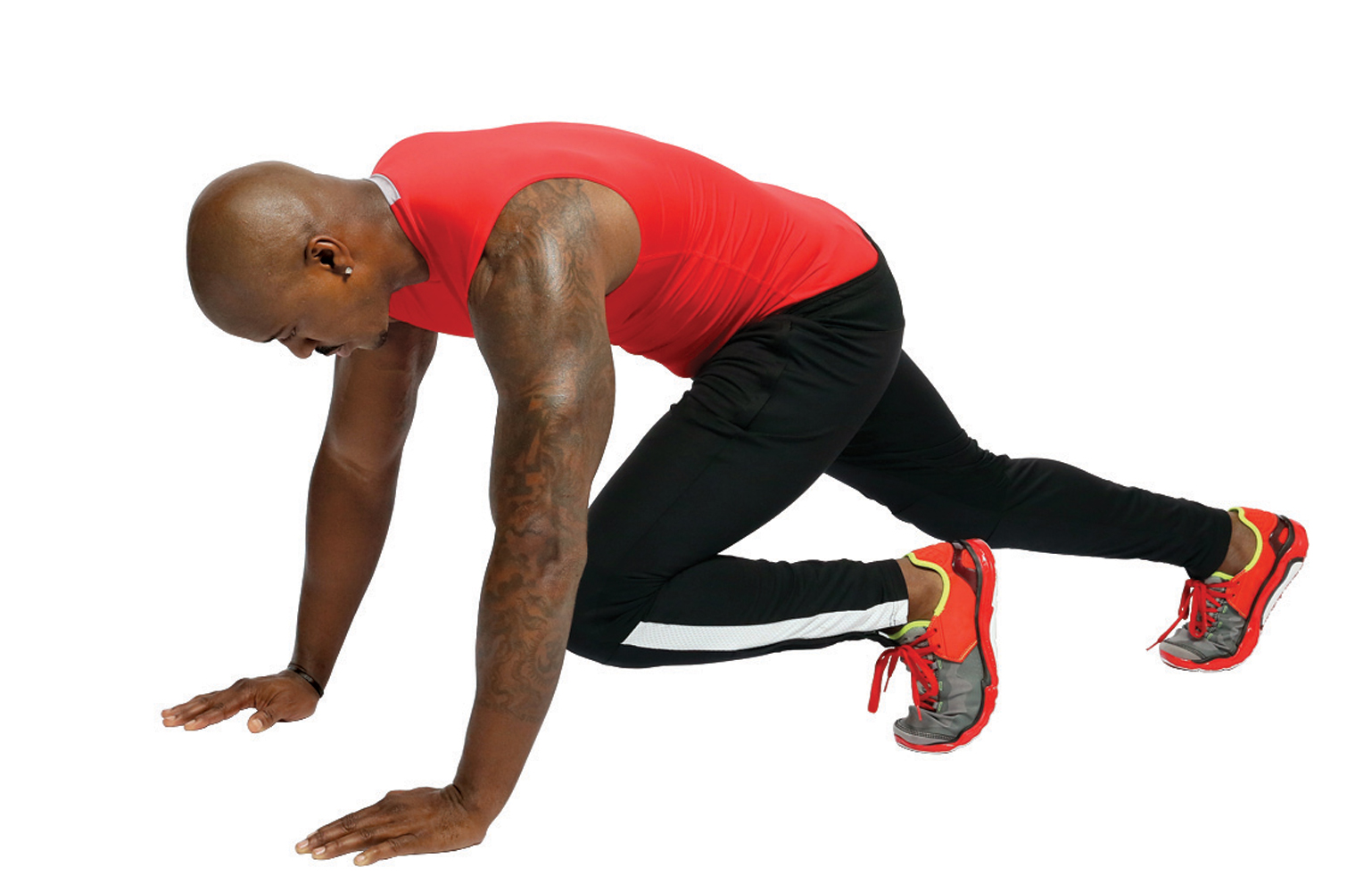 9. Mountain Climbers (30 seconds)                                      Then repeat No. 6, No.4 and then do the entire workout again for Round 2.