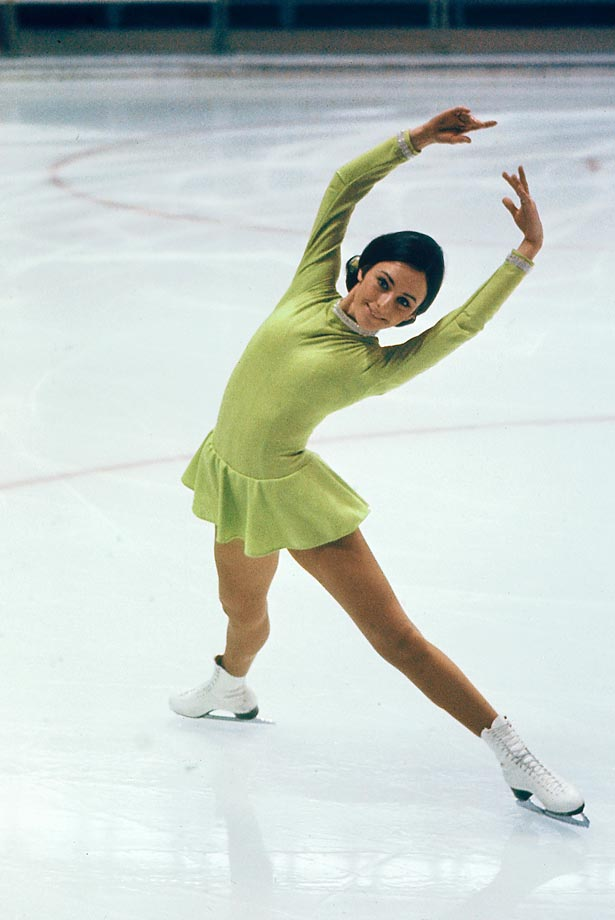 An American beauty, Peggy Fleming is synonymous with figure skating, earning five American, three world and an Olympic title. Fleming helped to define the look of modern women's figure skating: athletic, graceful, musical and strong. She was also the first of a wave of American skaters who helped to restart the American figure skating program after the entire figure skating team was killed in a plane crash en route to Worlds in Prague in 1961. --  Pj Kwong                       (SEE THE COMPLETE LIST OF 50 AT THEACTIVETIMES.COM)