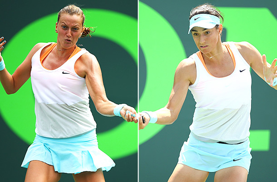 Kvitova and Garcia went springtime casual at the Sony Open in Nike, and it worked for both ladies.