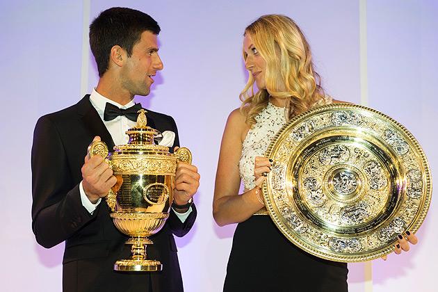 Fancy seeing you here ... again! (Djokovic and Kvitova both won the Wimbledon in 2011.)
