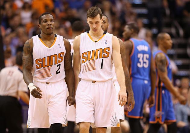 Phoenix Suns guards Eric Bledsoe and Goran Dragic.
