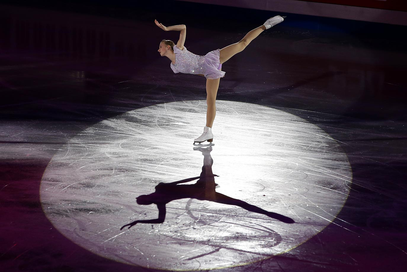 Polina Edmunds of the United States performs during the gala exhibition in the ISU Four Continents Figure Skating Championships in Seoul, South Korea.