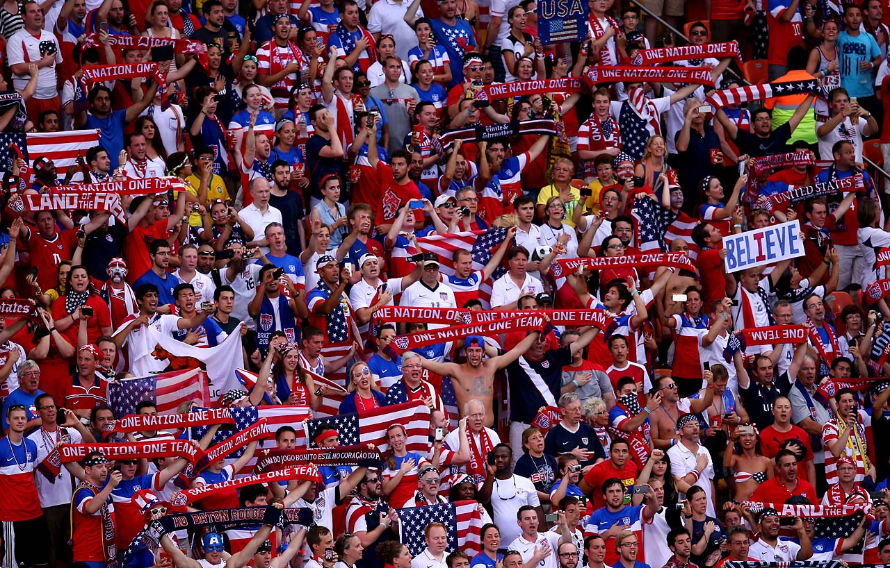 The U.S. fans were out in force in Manaus.
