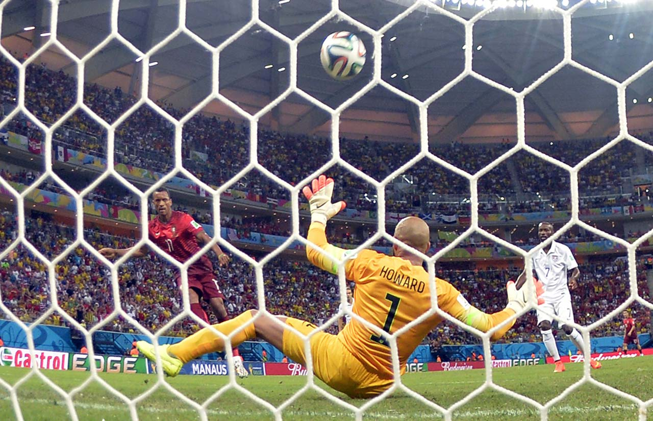 Nani had scored first for Portugal, shooting past a sprawling Tim Howard in the fifth minute.